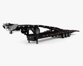 Gooseneck Kaufman DoubleDeck EZ4 Car Hauler Trailer 2021 Modelo 3D