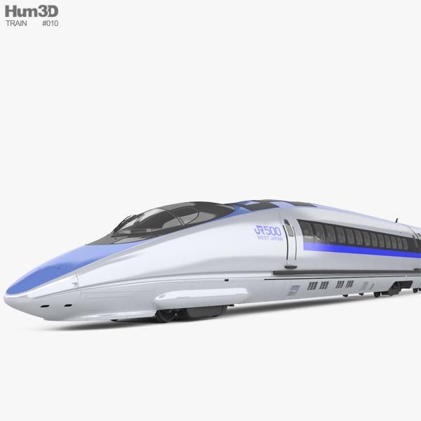 500 Series Shinkansen High-speed Train 3D model