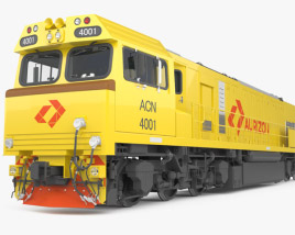 3D model of Aurizon 4000-class Locomotive with HQ interior