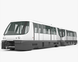 3D model of Bombardier Innovia APM PHX Sky Train 2014