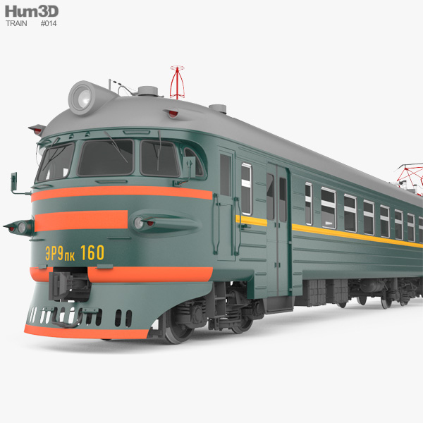 3D model of ER9PK-160-SL Suburban train