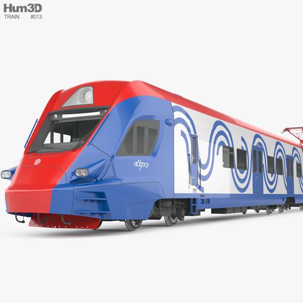 Ivolga train EG2Tv 3D model