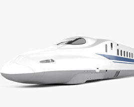 3D model of N700 Series Shinkansen