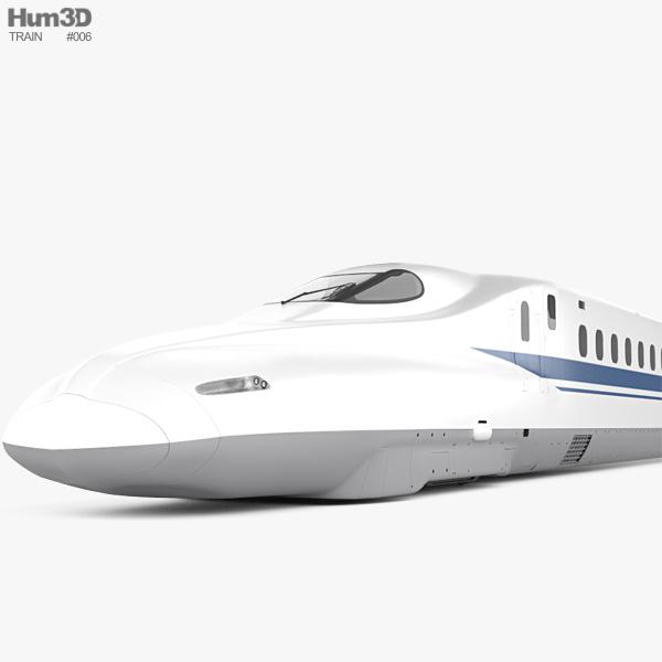 N700 Series Shinkansen Train 3D model