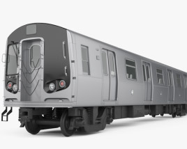 3D model of R160 NYC Subway car