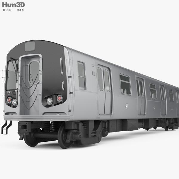R160 NYC Subway car 3D model
