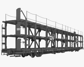 Railroad car transporter 3D model