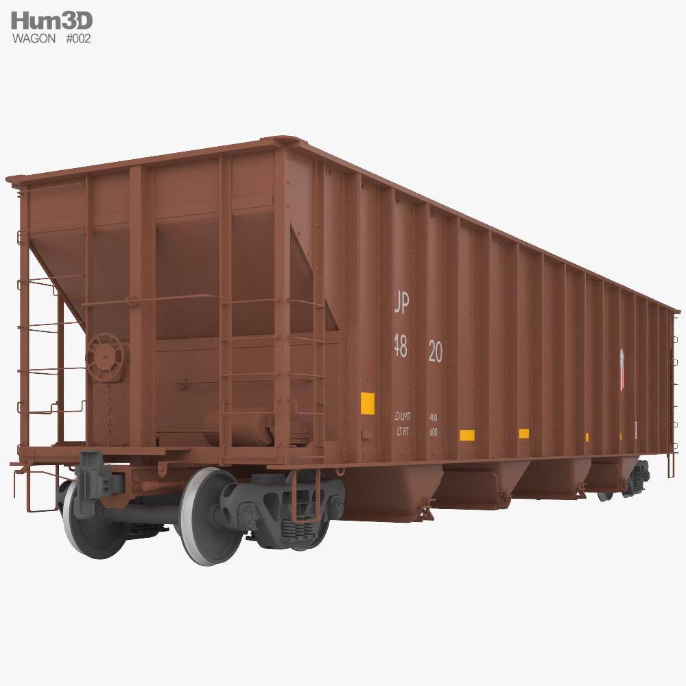 Railroad hopper wagon 3D model