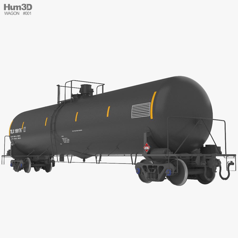 Railroad tank wagon 3d model
