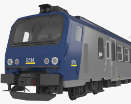 SNCF Class Z 7300 Electric Train 3D model