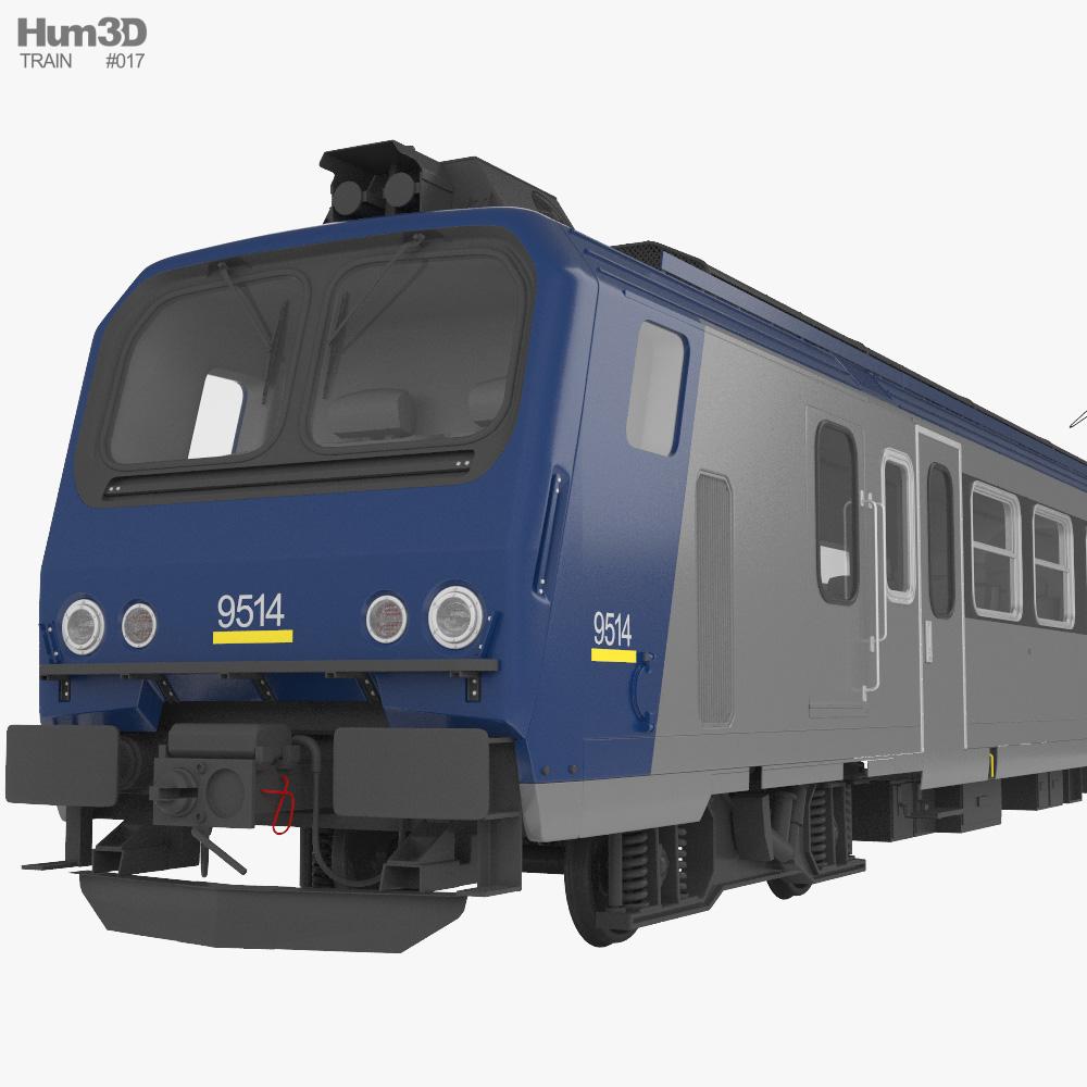 SNCF Class Z 7300 Electric Train 3D model