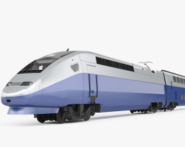 SNCF TGV 2N2 Euroduplex Train 3D model
