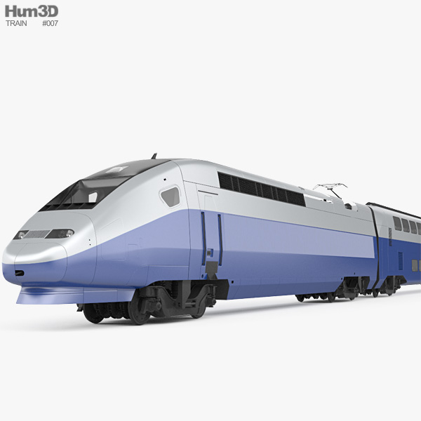 SNCF TGV 2N2 Euroduplex Train 3D model