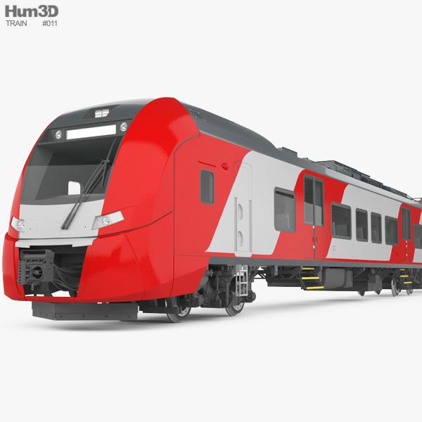 Siemens Lastochka Electric Train 3D model