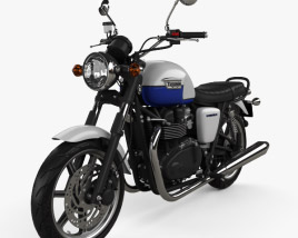 3D model of Triumph Bonneville 2015