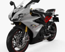 3D model of Triumph Daytona 675R ABS 2015