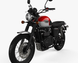 3D model of Triumph Scrambler 2015