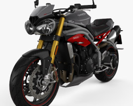 Triumph Speed Triple R 2015 3D model