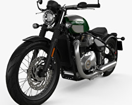 3D model of Triumph Bonneville Bobber 2017