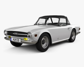 3D model of Triumph TR6 1969