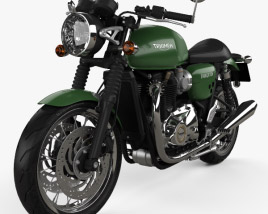 3D model of Triumph Thruxton 1200 2018