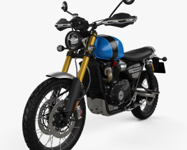 3D model of Triumph Scrambler 1200 XE 2020