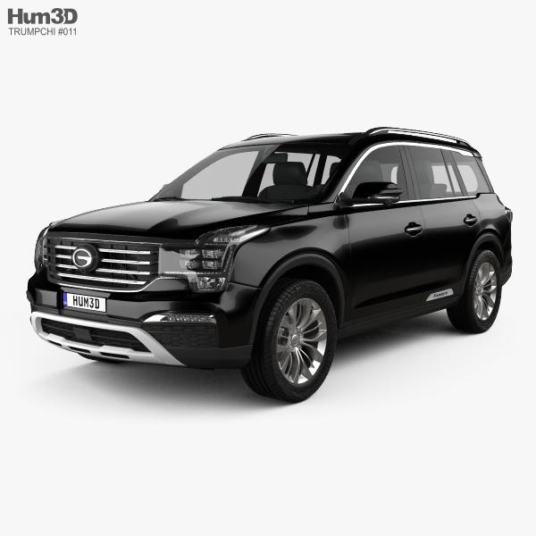 Trumpchi GS8 2016 3D model