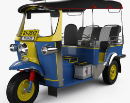 3D model of Tuk-Tuk Thailand 1980