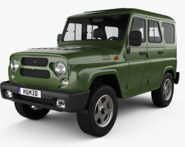 3D model of UAZ Hunter (315195) 2012