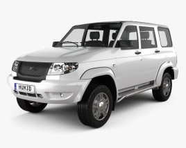 3D model of UAZ Patriot (3163) 2012