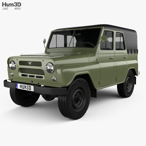 UAZ 469 B 1972 3D model