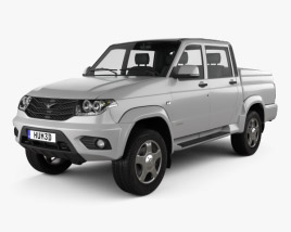3D model of UAZ Patriot (23632) Pickup 2014