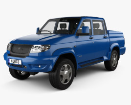 3D model of UAZ Patriot (23632) Pickup 2013
