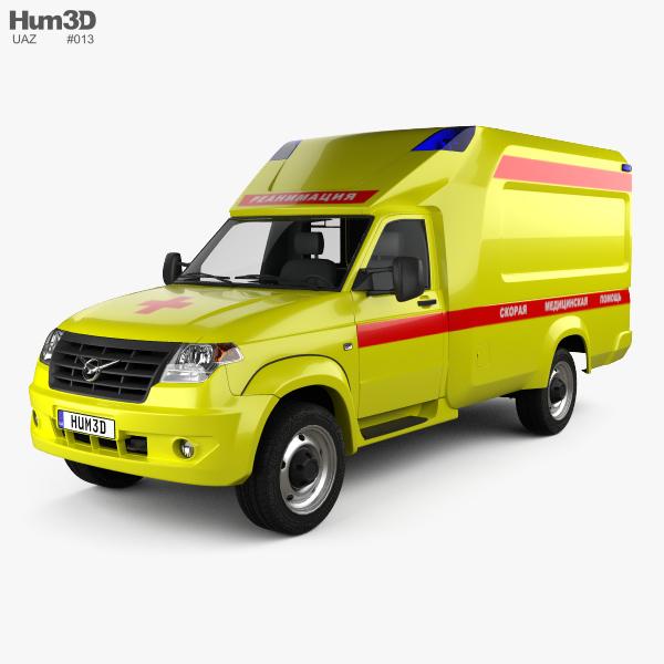 UAZ Profi Ambulance 2017 3D model