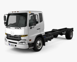 3D model of UD Trucks UD1800 Chassis Truck 2011