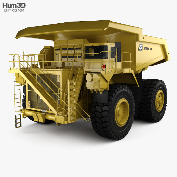 Unit Rig MT5300D AC Dump Truck 2012 3D model