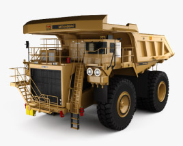 3D model of Unit Rig MT4400AC Dump Truck 2012