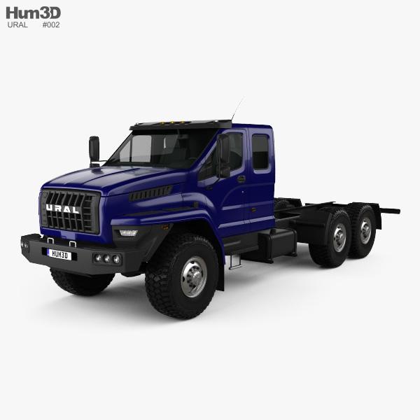 Ural Next Chasis de Camión 2015 Modelo 3D