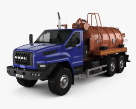 3D model of Ural Next Tanker Truck 2015