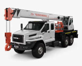 3D model of Ural Next Crane Truck 2015