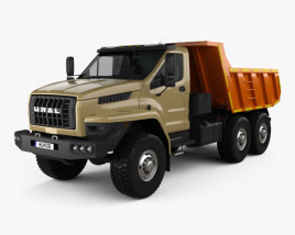 3D model of Ural Next Dumper Truck 2016