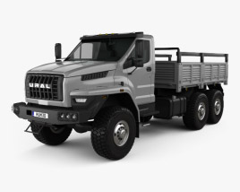 3D model of Ural Next Flatbed Truck 2016