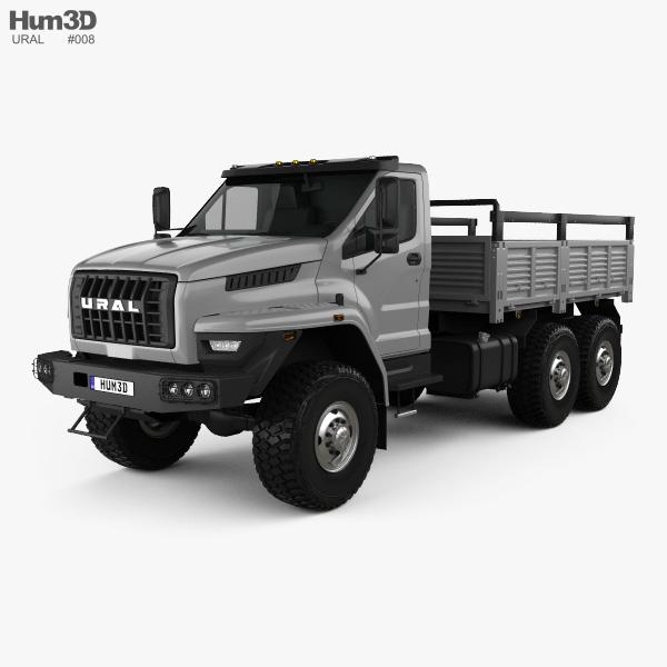 Ural Next Camión de Plataforma 2016 Modelo 3D