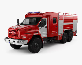3D model of Ural Next Fire Truck AC-60-70 2018