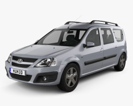 3D model of Lada Largus 2012