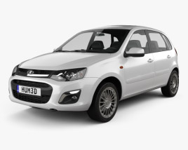 3D model of Lada Kalina 2 hatchback 2013