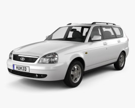 3D model of Lada Priora 2171 wagon 2012