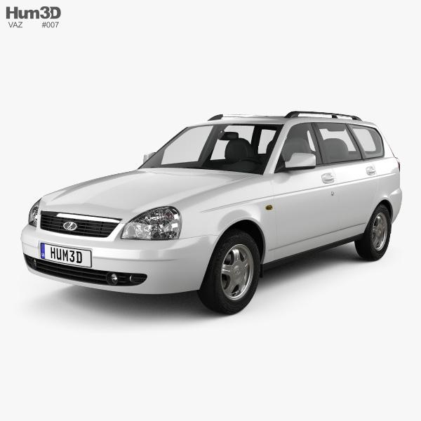 Lada Priora 2171 wagon 2012 3D model