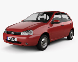 3D model of Lada Kalina (1119) hatchback 2011