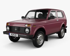 3D model of Lada Niva 4x4 21214 2012